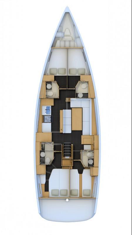 layout_Jeanneau_54_5_cabins_yacht_Greece