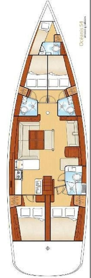 layout_Oceanis_54_5_cabins_yacht