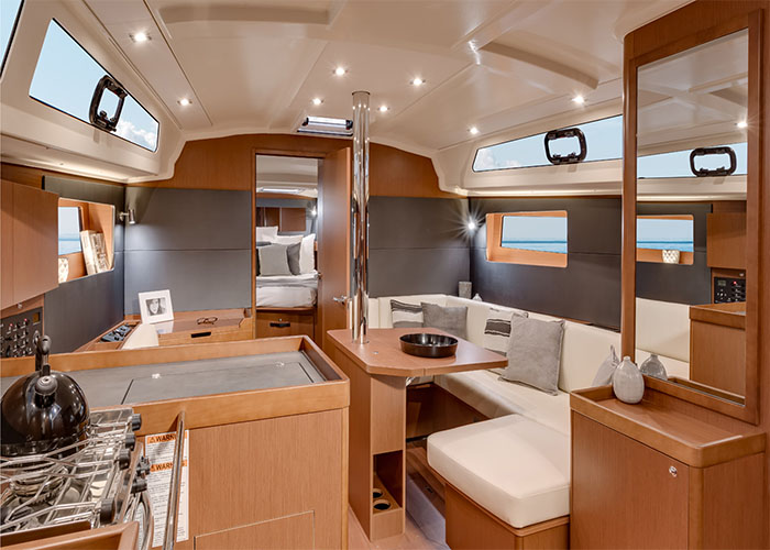 Beneteau 41.1 Living Room 2