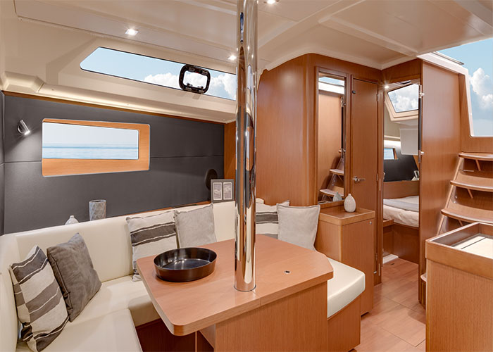 Beneteau 41.1 Living Room 1